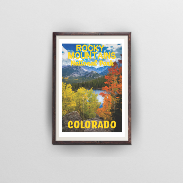 rocky mountains national park poster colorado