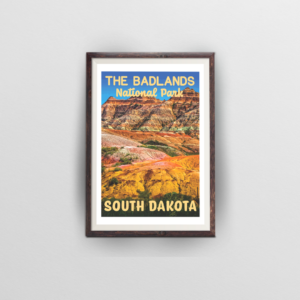 The Badlands National Park Poster