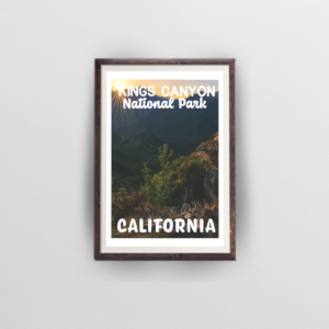 Kings Canyon National Park Poster